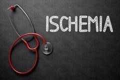 Conceito da isquemia no quadro ilustração 3D Imagem de Stock