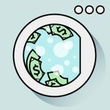Conceito da lavagem de dinheiro Projeto liso Gráficos de Digitas imagem de stock