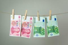 Conceito da lavanderia do dinheiro Fotografia de Stock