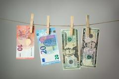 Conceito da lavanderia do dinheiro Imagem de Stock Royalty Free