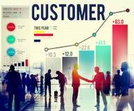 Conceito da lealdade da eficiência do serviço da satisfação do cliente imagens de stock