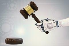 Conceito da lei do Cyber Imagens de Stock Royalty Free