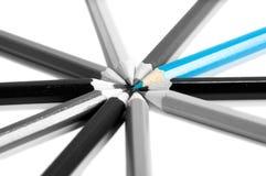Conceito da liderança com lápis da cor Foto de Stock
