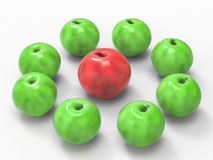 Conceito da liderança com maçã vermelha Imagens de Stock