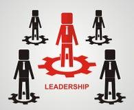 Conceito da liderança Conceito dos trabalhos de equipa Fotos de Stock