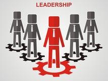 Conceito da liderança Conceito dos trabalhos de equipa Imagem de Stock Royalty Free