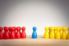 Conceito da liderança, da diplomacia, da unificação e da mediação fotos de stock
