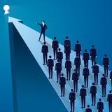 Conceito da liderança Gerente Leading Team dos trabalhadores que vão para a frente Imagem de Stock