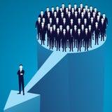 Conceito da liderança Gerente Leading Team dos trabalhadores que vão para a frente Imagem de Stock Royalty Free