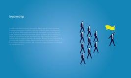 Conceito da liderança Gerente Leading Team dos trabalhadores que vão para a frente Fotografia de Stock