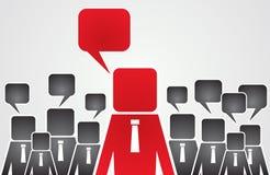 Conceito da liderança - ideias diferentes dos trabalhadores Foto de Stock Royalty Free