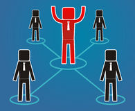 Conceito da liderança - os trabalhadores são líder sujeito Fotografia de Stock