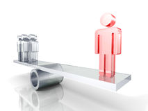 Conceito da liderança Pessoa de Team Group With Red Leader Ilustração Royalty Free