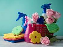 Conceito da limpeza da primavera fotos de stock