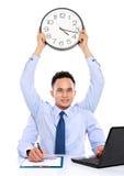 Conceito da linha da data do homem de negócios Fotografia de Stock Royalty Free