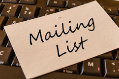 Conceito da lista de endereços no teclado Fotografia de Stock Royalty Free
