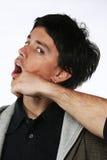 Conceito da luta - perfurador da face imagens de stock