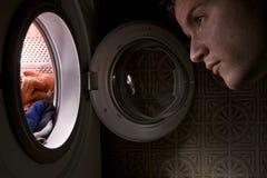 Conceito da máquina de lavar Fotografia de Stock Royalty Free