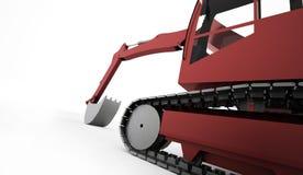 Conceito da máquina escavadora rendido ilustração royalty free