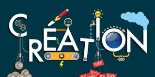 - Conceito da máquina da ideia - sessão de reflexão criativa - processo ilustração do vetor