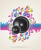 Conceito da música ilustração stock