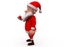 conceito da maçã de 3d Papai Noel Fotos de Stock