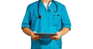 Conceito da medicina e de cuidados médicos globais Doutor isolado fotos de stock