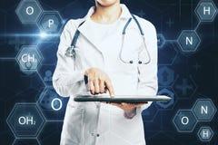 Conceito da medicina e da tecnologia imagens de stock