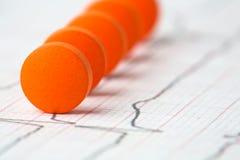 Conceito da medicina. série de tabuletas eretas Imagem de Stock