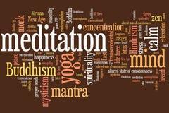 Conceito da meditação Fotografia de Stock Royalty Free