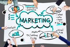 Conceito da mercadoria da promoção da propaganda de negócio do mercado Imagem de Stock Royalty Free