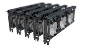 Conceito da mineração de GPU fotografia de stock royalty free