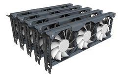 Conceito da mineração de GPU foto de stock royalty free