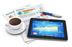 Conceito da mobilidade, do negócio e da finança Fotografia de Stock Royalty Free