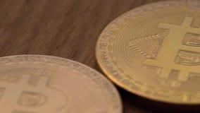 Conceito da moeda cripto e do Bitcoins filme
