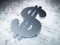 Conceito da moeda: Dólar no fundo digital Fotos de Stock