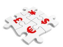 Conceito da moeda do enigma Fotografia de Stock