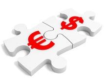Conceito da moeda do enigma Imagem de Stock