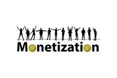 conceito da monetização Programa da referência ilustração do vetor