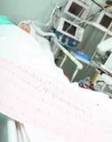 Conceito da monitoração do paciente de cama de ECG Fotografia de Stock