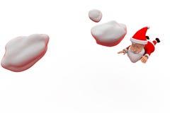 conceito da mosca de 3d Papai Noel Fotos de Stock Royalty Free