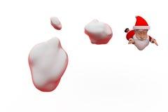 conceito da mosca de 3d Papai Noel Fotos de Stock