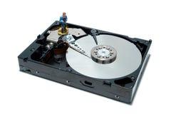 Conceito da movimentação de disco duro do computador para o apoio Fotografia de Stock