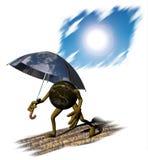 Conceito da mudança de clima Fotografia de Stock