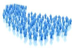 Conceito da multidão dos povos Imagem de Stock