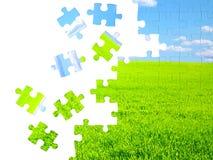 Conceito da natureza - enigmas 3d Imagens de Stock