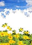 Conceito da natureza - enigmas 3d Fotografia de Stock Royalty Free