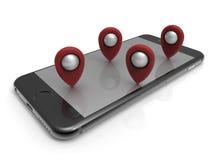 Conceito da navegação de Smartphone GPS ilustração do vetor