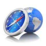 Conceito da navegação do mundo Foto de Stock Royalty Free