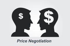 Conceito da negociação do preço ilustração royalty free